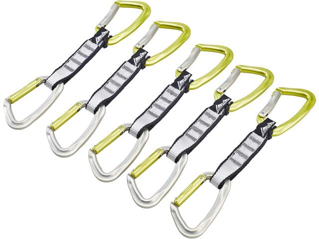 AustriAlpin Eleven Set de dégaines d'escalade 11cm 5 pièces, colorless-yellow